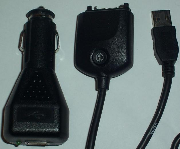 PALM USB CABLE WITH IC-USB M125030 USB CAR CHARGER