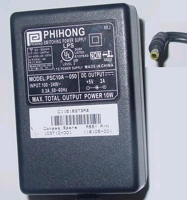 PHIHONG PSC10A-050 AC DC ADAPTER 5V 2A POWER SUPPLY