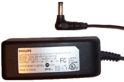 PHILIPS DSA-9W-09 FUS 090100 AC DC ADAPTER 9V 1A POWER SUPPLY fo