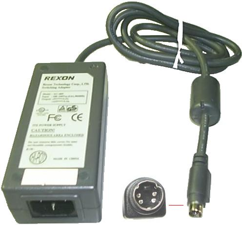 REXON AC-005 AC ADAPTER 5VDC 12V 1.5A (: :) 4Pin 9mm Mini Din Us