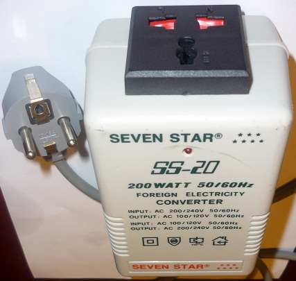 SEVEN STAR SS-20 200W FOREIGN ELECTRICITY VOLTAGE CONVERTER