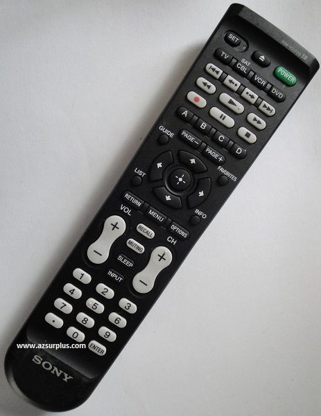 SONY RM-VZ220 DVD TV VCR Infrared Remote Control 54 Buttons Univ