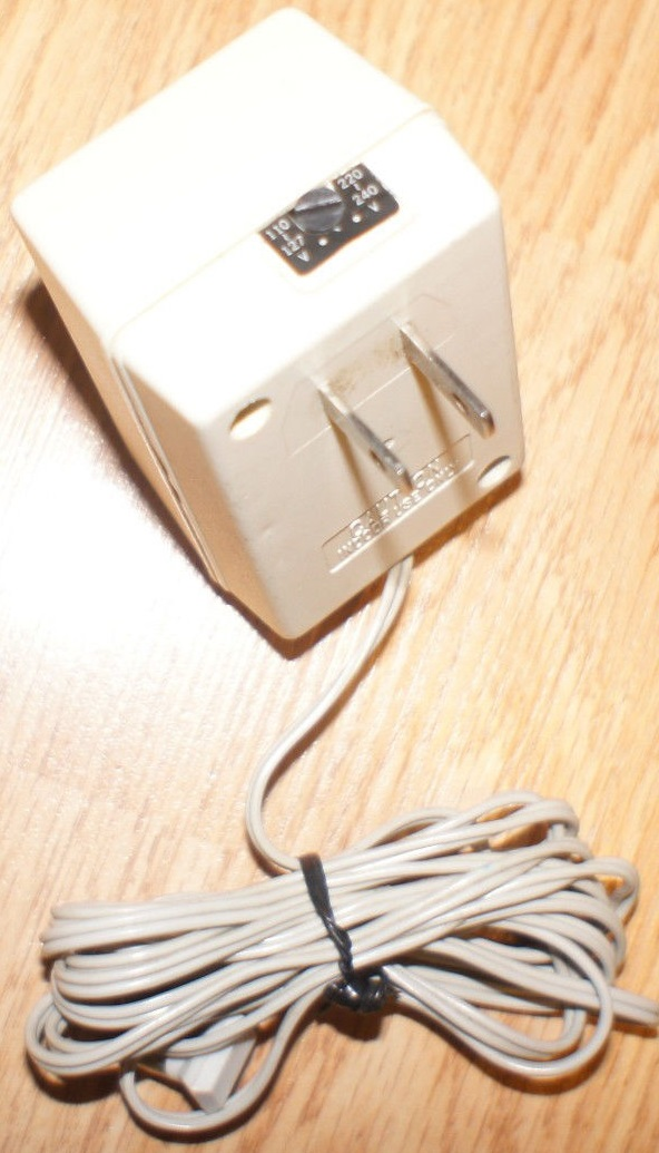 SONY AC-T98 AC ADAPTER 9VDC 300mA USED -(+) 2.1x5.5x9.7mm 90 deg