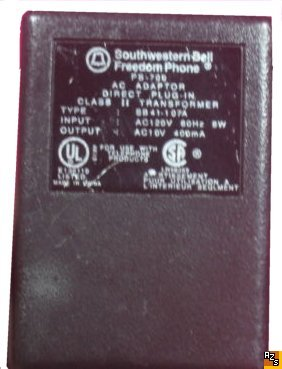 SOUTHWESTERN BELL FREEDOM PHONE PS-700 AC DC ADAPTER 10V 400mA