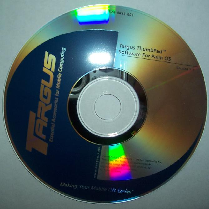 TARGUS 828-0023-001 Driver PA765U THUMBPAD SOFTWARE CD VER 1