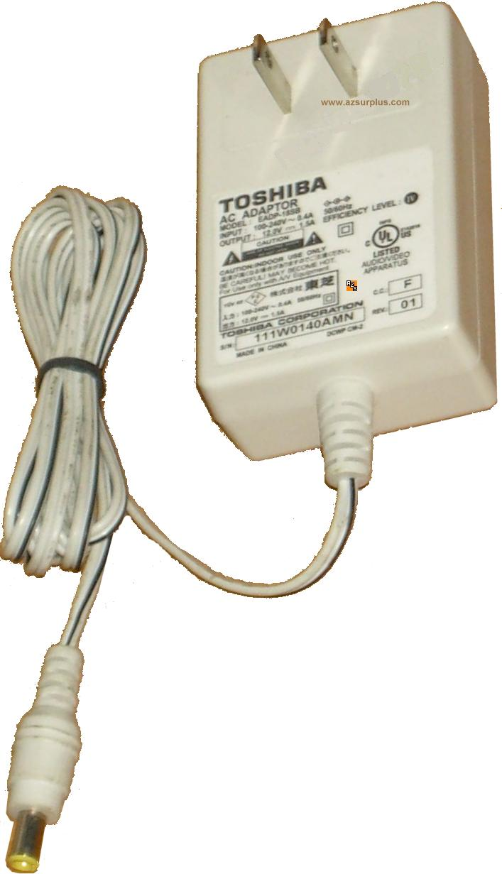Toshiba EADP-18SB AC Adaptor 12Vdc 1.5A Used Power Supply GENUIN