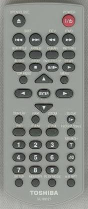 TOSHIBA SE-R0127 Infrarad REMOTE CONTROL AH700004 for DVD player