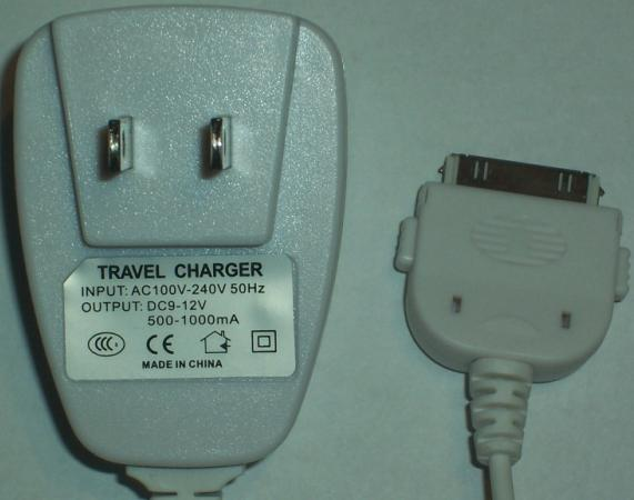 9-12V DC Charger 500-1000mA TRAVEL Iphone ipod AC Adapter Wall H