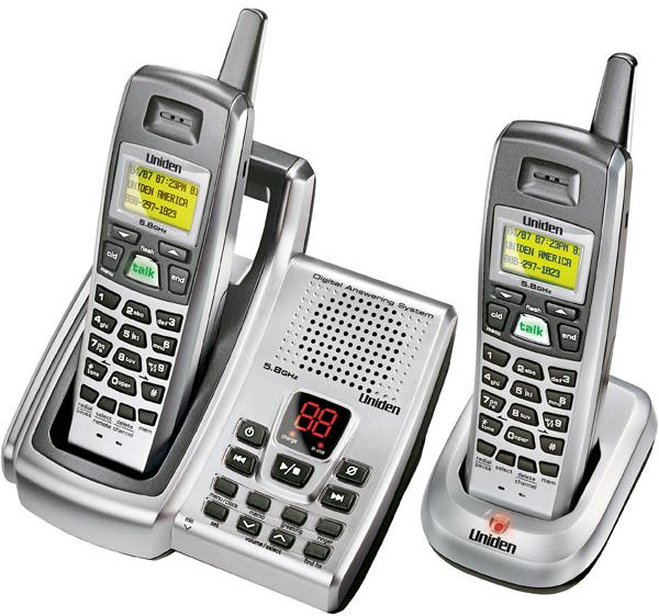 UNIDEN DXAI 5688-2 Wireless TWO HANDSETS CORDLESS Home Phone