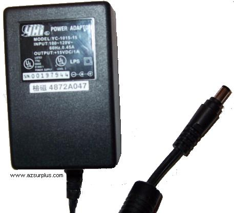 YHI YC-1018-B05-U AC DC ADAPTER 5V 3.7A POWER SUPPLY 2.5mm HP SC